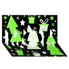 Green Playful Xmas MOM 3D Greeting Card (8x4)