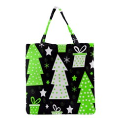 Green Playful Xmas Grocery Tote Bag