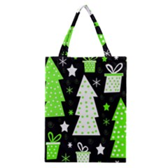 Green Playful Xmas Classic Tote Bag