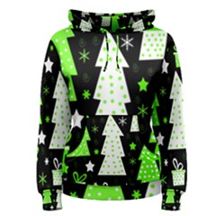 Green Playful Xmas Women s Pullover Hoodie