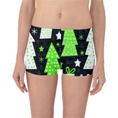 Green Playful Xmas Boyleg Bikini Bottoms