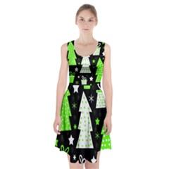 Green Playful Xmas Racerback Midi Dress