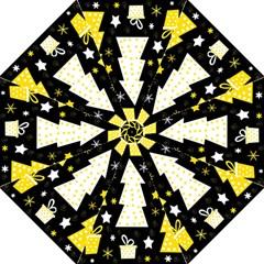Yellow playful Xmas Folding Umbrellas