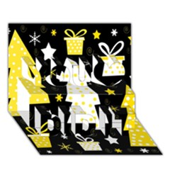 Yellow playful Xmas You Did It 3D Greeting Card (7x5)