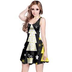 Yellow playful Xmas Reversible Sleeveless Dress