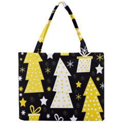 Yellow playful Xmas Mini Tote Bag