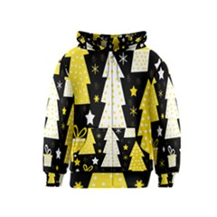 Yellow playful Xmas Kids  Zipper Hoodie