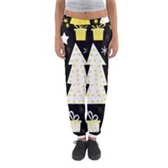 Yellow playful Xmas Women s Jogger Sweatpants