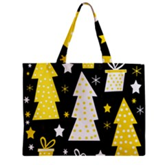 Yellow playful Xmas Zipper Mini Tote Bag