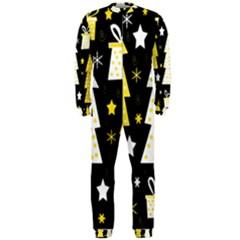 Yellow playful Xmas OnePiece Jumpsuit (Men)