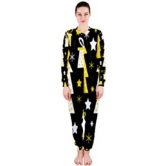 Yellow playful Xmas OnePiece Jumpsuit (Ladies)