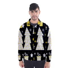 Yellow playful Xmas Wind Breaker (Men)