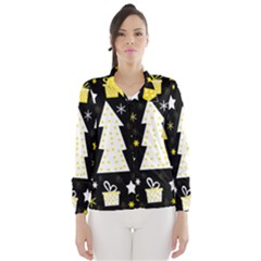 Yellow playful Xmas Wind Breaker (Women)