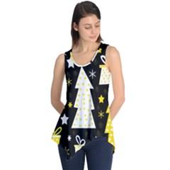 Yellow playful Xmas Sleeveless Tunic