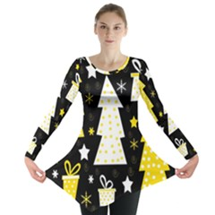 Yellow playful Xmas Long Sleeve Tunic