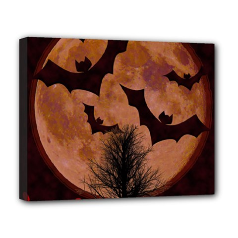 Halloween Card Scrapbook Page Deluxe Canvas 20  x 16
