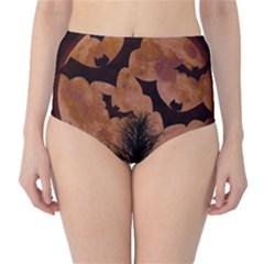 Halloween Card Scrapbook Page High-Waist Bikini Bottoms