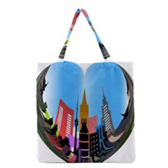 Heart Shape City Love  Grocery Tote Bag