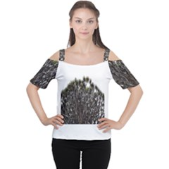Inflorescences Women s Cutout Shoulder Tee