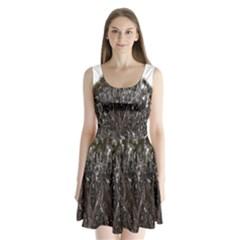 Inflorescences Split Back Mini Dress