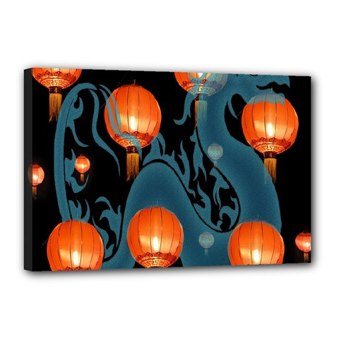 Lampion Canvas 18  x 12
