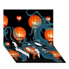 Lampion LOVE Bottom 3D Greeting Card (7x5)