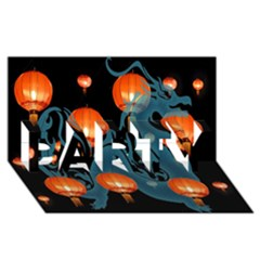 Lampion PARTY 3D Greeting Card (8x4)