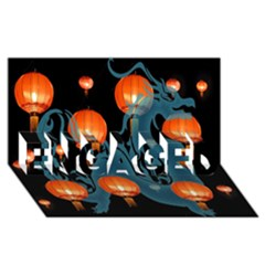 Lampion ENGAGED 3D Greeting Card (8x4)