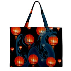 Lampion Zipper Mini Tote Bag