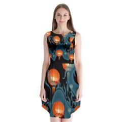 Lampion Sleeveless Chiffon Dress