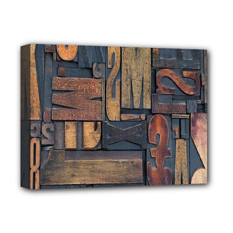 Letters Wooden Old Artwork Vintage Deluxe Canvas 16  x 12