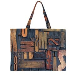 Letters Wooden Old Artwork Vintage Large Tote Bag