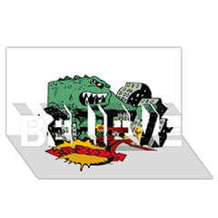Monster BELIEVE 3D Greeting Card (8x4)