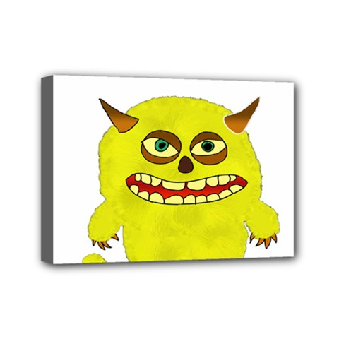 Monster Troll Halloween Shudder  Mini Canvas 7  x 5