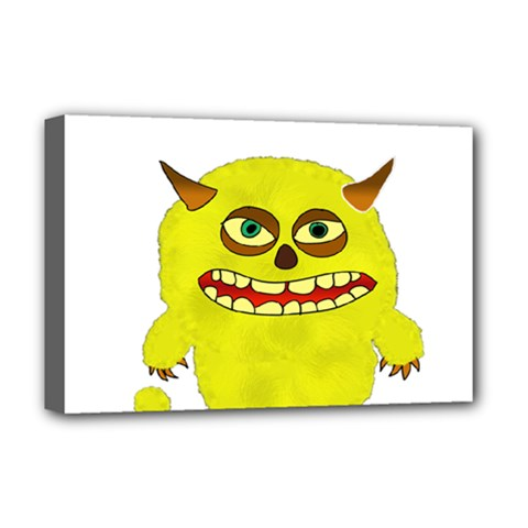 Monster Troll Halloween Shudder  Deluxe Canvas 18  x 12