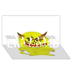 Monster Troll Halloween Shudder  ENGAGED 3D Greeting Card (8x4)