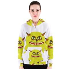Monster Troll Halloween Shudder  Women s Zipper Hoodie