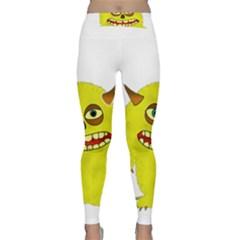 Monster Troll Halloween Shudder  Classic Yoga Leggings