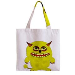 Monster Troll Halloween Shudder  Zipper Grocery Tote Bag