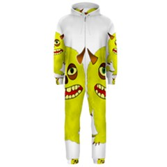 Monster Troll Halloween Shudder  Hooded Jumpsuit (Men)