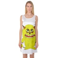 Monster Troll Halloween Shudder  Sleeveless Satin Nightdress