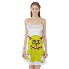 Monster Troll Halloween Shudder  Satin Night Slip