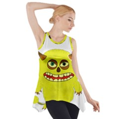 Monster Troll Halloween Shudder  Side Drop Tank Tunic