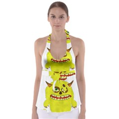 Monster Troll Halloween Shudder  Babydoll Tankini Top