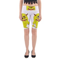 Monster Troll Halloween Shudder  Yoga Cropped Leggings