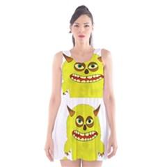 Monster Troll Halloween Shudder  Scoop Neck Skater Dress