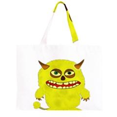 Monster Troll Halloween Shudder  Large Tote Bag