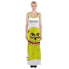 Monster Troll Halloween Shudder  Maxi Thigh Split Dress