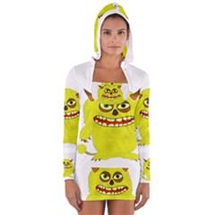 Monster Troll Halloween Shudder  Women s Long Sleeve Hooded T-shirt