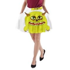 Monster Troll Halloween Shudder  A-Line Pocket Skirt